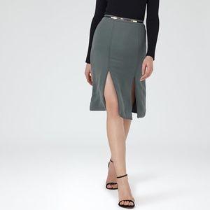 NWT REISS Ennis Split Side skirt in Kingfisher
